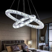 free shipping best pendant LED lights round/circle restaurant crystal chandelier lights with Dia20cm+Dia40cm