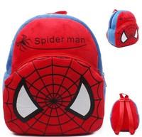 Baby Kids  Spiderman Plush Backpack School Bag   little baby boy  small bag  children backpacks 1 or 2 year mochilas 11design
