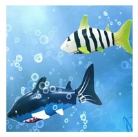 Mini rechargeable electric  remote control fish shark diving remote control toys for children playing in the water toys 1.3