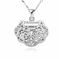Austrian Crystal design Brand Heart Necklaces & Pendants Fashion Jewelry for 2014 women genuine 925 sterling silver