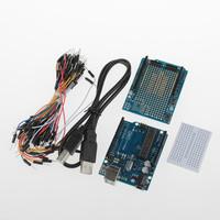 XD-219248 UNO R3+ Board + Expansion Board / Mini Bread Board + Jumper Cables Set For Arduino - Blue + Black Free Shipping