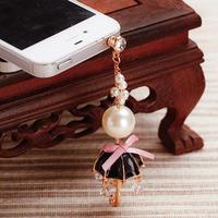 Sweet And Cute Big Round Pearl Charms Mini Umbrella Phone Dust Plug Fashion Mobile Phone Accessories SP039