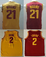 Hot sale 21# andrew wiggins jersey Basketball Jerseys 2# Kyrie Irving men's jerseys, Embroidery Logos High quality