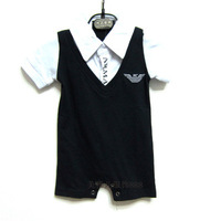 Free shipping 2014 summer new baby Romper Boys Girls Brand cotton short-sleeved Romper Baby clothes