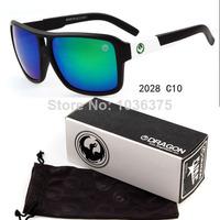 Wholesale 10Pcs Dragon the Jam New 2028 Man Sunglasses oculos de sol Cycling Sports Men Sun Glasses Eyeglasses Eyewear + Box