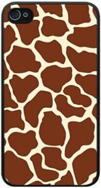 Unique Snap-on Plastic Brand New Animal Safari Giraffe spot skin print Case Cover Skin For Apple iPhone 5/5S Verizon Sprint(China (Mainland))