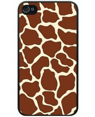 Unique Snap-on Plastic Brand New Animal Safari Giraffe spot skin print Case Cover Skin For Apple iPhone 5C Verizon Sprint(China (Mainland))