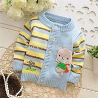 2014 hot Children Sweater / Baby Sweater / Beautiful Warm Cartoon Sweater / Baby cardigan Sweater ( 3 pcs / lot )