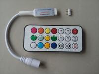 DC5V MINI 21key-RF led pixel controller;WS2811//WS2812B/TM1804/TM1809/INK1003/ICS1903,1024pixels controlled;63kinds of effects