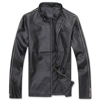 Men's clothing PU leather jacket male 2013 spring new arrival leather clothing male slim spring outerwear