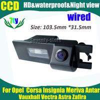 CCD HD wired car parking rear view camera for Opel Vauxhall Vectra Astra Zafira Corsa Insignia Meriva Antara car reverse camera