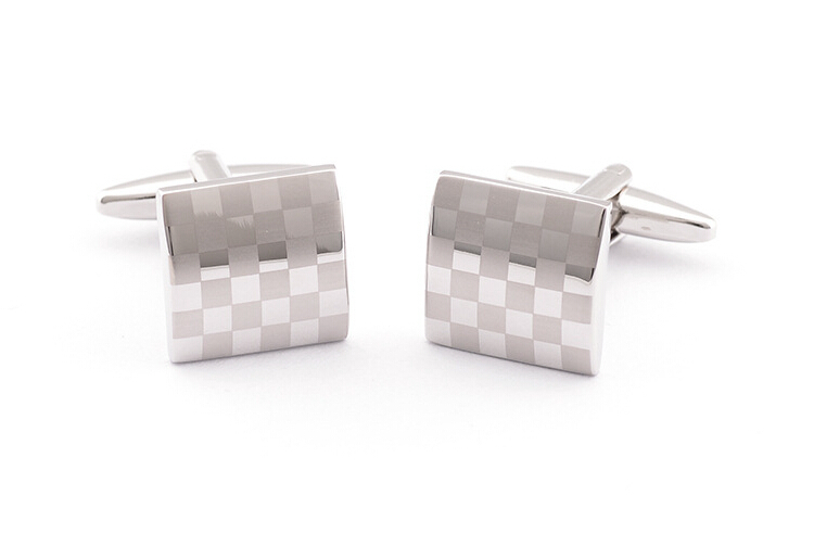 SALES Laser Engraving Silver Cufflinks for Man FREE SHIPPING(China (Mainland))