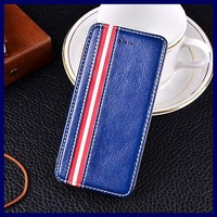European-style mobile phone bags cases for iphone 5 5S Red striped dual color PU leather flip cover stand cases for iphone5S