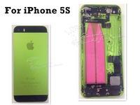 For iPhone 5S back cover housing assembly Green/Black Back Glass Pre-assembled Middle frame Bezel Chassis Replacement