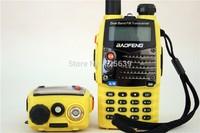BaoFeng UV-5RA+Plus VHF/UHF Dual Band Dual Display Portable Radio Yellow Color Free Shipping