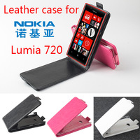 Free shipping!!! Hot Selling Original High Quality Multi-Colors Flip Cover Leather Case For 4.3 inch NOKIA Lumia 720 Smartphone