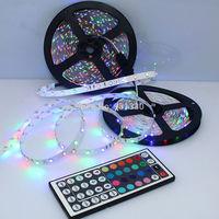 3528 SMD 10M RGB 600 LEDs 2x5M LED Light Strip Lamp 44Key IR remote Romantic