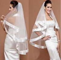 Wholesale wedding  double- wide ribbon yarn ribbon edge factory direct white  T52 wedding bridal veil