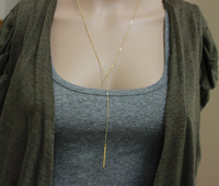 Height 22 inches Lariat necklace modern style bars, pubs necklace, exquisite necklace, Dante layer necklace