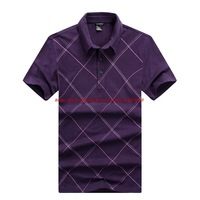 Classic Quality Men Polo Shirt New 2014 Fashion Free Shipping #6702,Plaid Straight Fitness Soft Cotton Casual Summer