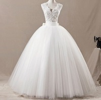 New 2014 Fashion Celebrity Strapless White/Ivory Tulle Silk beading Organza Vera Wedding Dresses Bridal Ball Gown Free Shipping