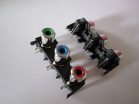 THREE RCA SOCKET ,AV3-8.4-40 AGWJ  ,Customized welcomed