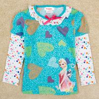 High quality kid frozen princess elsa anna boys girls t shirt long sleeve cute autumn top