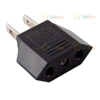 SubBuy Hot 2 4 10 20 100pcs EU To US Travel Charger AC Power Plug Adapter Converter New[20pcs] [High Quality]