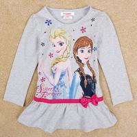 High quality kid frozen princess elsa anna boys girls t shirt long sleeve autumn top