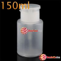 BuyNao New 50ml 70ml 150ml 200ml 250ml Empty Pump Dispenser Bottle Makeup Nail  Cleaner[150ml] [High Quality]
