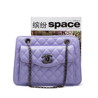 2014 small plaid chain bag bags girls fresh shoulder bag cross-body women's handbag