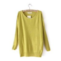 Fall 2014 new fashion ladies' leisure fashion candy color joker cultivate one's morality show thin sweater