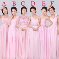Wedding dress 2014 new pink bridesmaid dress long section sisters toast dress