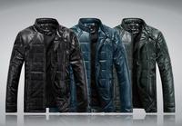 free shipping Men winter jacket fashion sports outdoor Waterproof  Leather down & parka men  Size L-4XLMA16