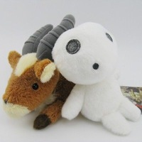 2pc Ghibli Princess Mononoke Hime yakkuru KODAMA Soft Plush toys New