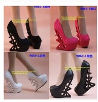 2014 Brand New Fashion Women's Pumps 15 CM Ultra High Heels Party /Wedding Dress Wedges Shoes Sexy Fretwork Heels Free Shipping