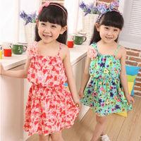 Free shipping !new 2014 summer girls dress,Girls Floral Chiffon Dress Girls Dress Princess Dress 2-5 years