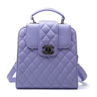 2014 plaid girls backpack preppy style vintage women's handbag handbag shoulder bag cross-body bag
