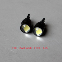 Wholesale T10 2smd 5630 Lens High power W5W white  super bright Auto led car lighting wedge  lamp