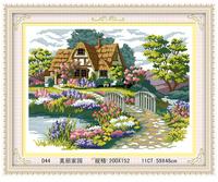 landscape painting print cross stitch Hand made DIY sets stitching embroidery kits cross-stitch kit craft home decoration