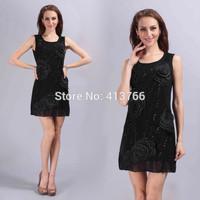 summer 2015 fashion flower casual dress, new 2015 summer dress,party dresses,women clothing,summer dresses