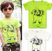 2014 Free Shipping Summer Retail Kids Tops Cartoon Short Sleeves T Shirt Children Girls Boys Kids T Shirt 3-7 Year SF07-07