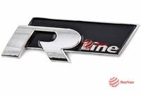 BuyNao Car Auto 3D Alloy Badge Emblem Decal Decoration Sticker Chrome R Line RLine #30 High Quality
