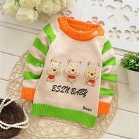 hot  Baby cartoon Three Bears ,o-neck sweater./ Baby pullover Sweater .(  3 pcs / lot ) free shipping