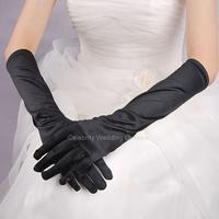 There are means light board satin melanin face black wedding dress  S05 dinner show gloves wedding