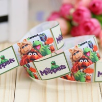 7/8'' Free shipping cartoon printed grosgrain ribbon hairbow headwear party decoration diy wholesale OEM 22mm P2948