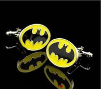 6pairs/lot Batman Superhero Cufflinks,  Free Shipping
