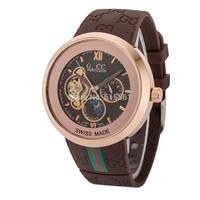 2014 New Famous Brand Winner Luxury Fashion Casual Stainless Steel Men Mechanical Watch Skeleton Watch For Men Dress Wristwatch