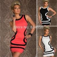 2014 New Summer Women Ladies Clothing Sexy Clubwear Dresses Sleeveless Tank Sheath Dress Free Shipping