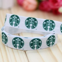 5/8'' Free shipping Fold Over Elastic FOE coffee printed headband headwear hair band diy decoration wholesale OEM P2981